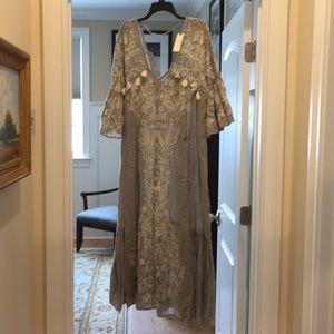 Anthropologie grey maxi dress (bw)